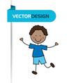 cute kids design vector image