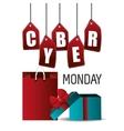 Cyber monday shopping season design vector image vector image