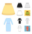 different kinds of clothes cartoonblackflat vector image vector image