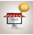 e-commerce from computer isolated icon design vector image