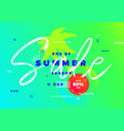 end of summer season sale banner tropic vector image vector image