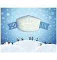 Fabulous Christmas winter card in cartoon-style vector image vector image
