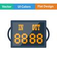 Flat design icon of football referee scoreboard vector image vector image