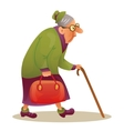 Funny elderly lady with glasses Grandmother with vector image