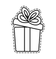 gift box ribbon wedding present open cut line vector image vector image