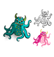 Halloween Monsters spooky isolated creatures set vector image vector image