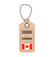 hang tag made in canada with flag icon isolated on vector image vector image