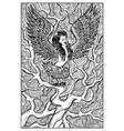 harpy engraved fantasy vector image vector image