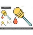 Honey line icon vector image vector image