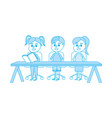 isolated boy and girls design vector image