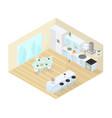 kitchen dining room studio isometric vector image