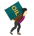 Man with oil can vector image