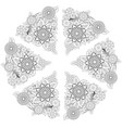 mandala isolated design element geometric line vector image