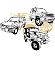 Off-Road Cars - set vector image