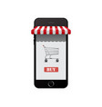 online shop on smart phone vector image vector image