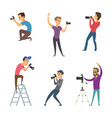 photographers make photos set funny characters vector image vector image