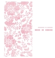 Pink textile birds and flowers vertical frame vector image