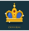 Pope triada or kings crown golden monarch symbol vector image