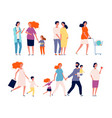 pregnant characters woman happy mother couple vector image