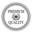 Premium quality label for vector image