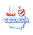presidential vote in georgia usa 2020 state map vector image