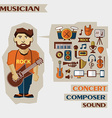 Profession of people Flat infographic Musician vector image vector image