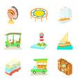 regatta icons set cartoon style vector image vector image