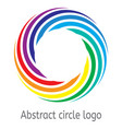 round circle with rainbow colors vector image vector image