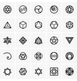 Sacred geometry icons vector image