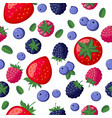 seamless pattern berries vector image