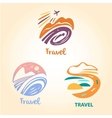 Set logo travel company Tourist trip The vector image