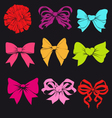 Set of bright bows vector image vector image