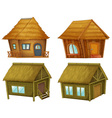 Set of cabins vector image vector image
