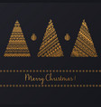 set of geometric golden linear graphic christmas vector image