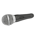 silver microphone vector image