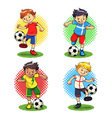 Soccer Boys vector image vector image