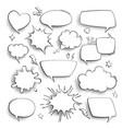 speech bubbles cartoon comics talk think and vector image vector image