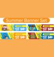 summer banner set vector image vector image