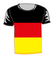 t-shirt with flag germany vector image vector image