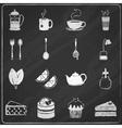 Tea icons set chalkboard vector image vector image