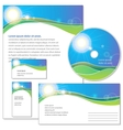 Template for corporate identity vector image vector image