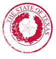 texas state rubber stamp seal vector image vector image