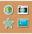 travel set equipment isolated icons vector image