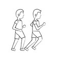 two man sport running sport image vector image vector image