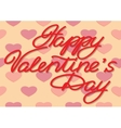 Valentines Day Inscription from paper letters vector image