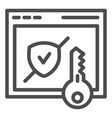 verified secure site line icon computer vector image vector image