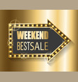 weekend best sale proposal from shop gold banner vector image vector image