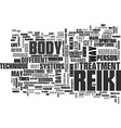 what you need to know about reiki treatment text vector image vector image