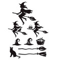witch silhouette black color vector image