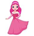 Beautiful princess cartoon vector image
